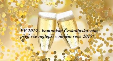 KSČM, přání do nového roku, 2019, levice, Česká Lípa
